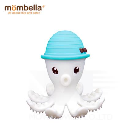 英國《mombella 》樂咬咬章魚固齒器(藍色)