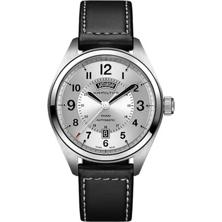 Hamilton KHAKI FIELD卡其野戰機械腕錶-銀x黑/42mm H70505753