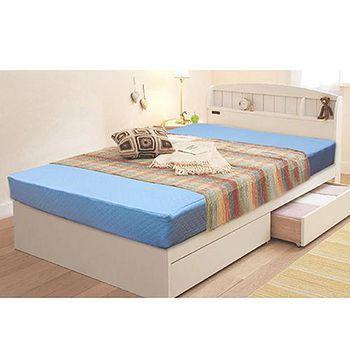 KOTAS 高週波吸濕排汗二折彈簧床-藍色 單人3尺