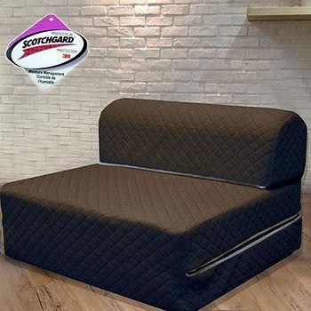 KOTAS 高週波吸濕排汗彈簧沙發床椅-咖啡色 單人3尺