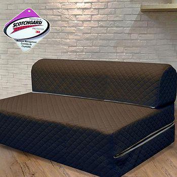 KOTAS 高週波吸濕排汗彈簧沙發床椅-咖啡色 雙人