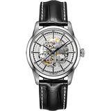 Hamilton AMERICAN CLASSIC鐵路系列鏤空機械腕錶-銀x黑/42mm H40655751