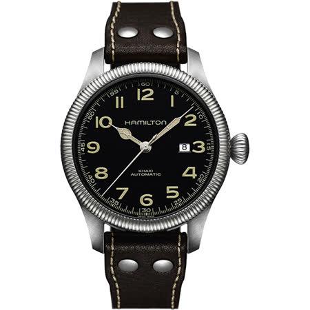 【好物分享】gohappy快樂購Hamilton KHAKI FIELD飛行員機械腕錶-黑/45mm H60515533哪裡買新光 三越 桃園 站 前 店
