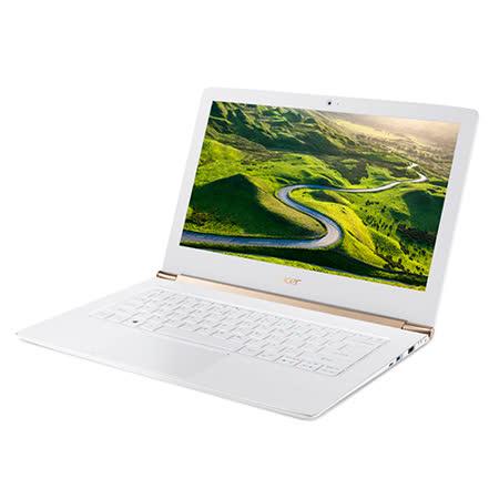 【ACER宏碁】S5-371-53NX 13.3吋 (I5-6200U/8G/256G SSD/Win10) 美型輕薄筆電(白)-贈藍芽喇叭+32G隨身碟