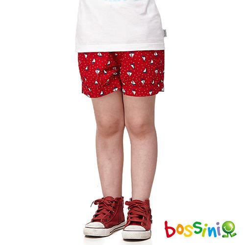 bossini女童~輕便短褲03櫻桃紅^(品^)