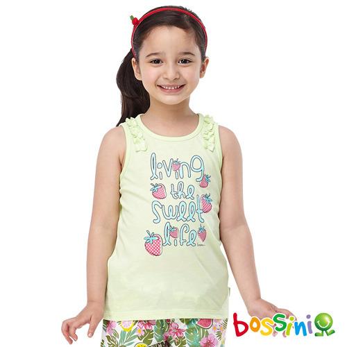 bossini女童~印花無袖上衣41薄荷綠^(品^)