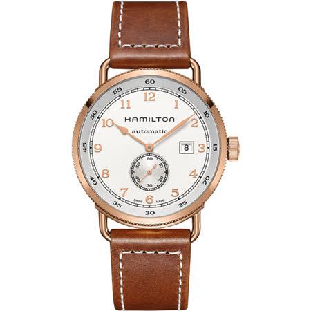 Hamilton KHAKI NAVY卡其海軍小秒針機械腕錶-43mm H77745553