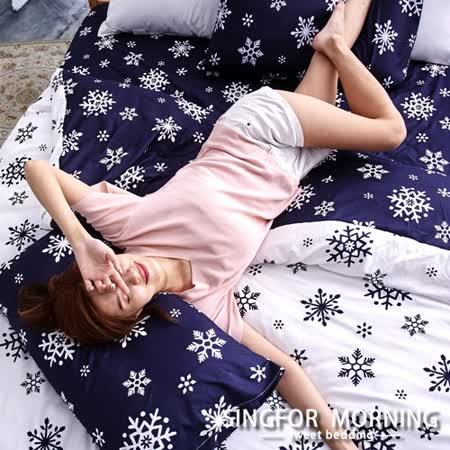 幸福晨光《極光喃語》雙人加大四件式雲絲絨床包被套組