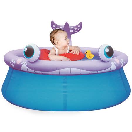 寶貝樂 鯨魚兒童充氣水池/游泳池