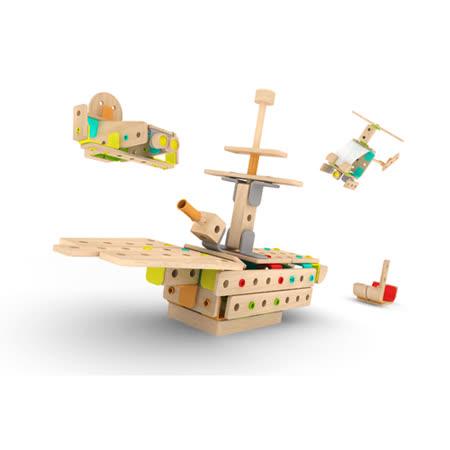 Classic world 德國經典木玩客來喜 DABA-創意卡榫積木 豪華綜合組