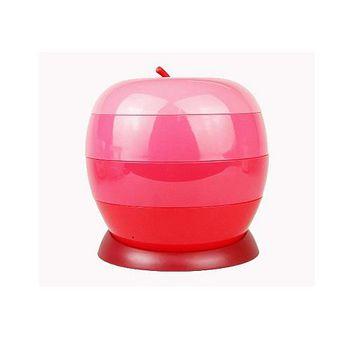 買達人 蘋果旋轉糖果盒/萬用收納盒-一入組 一入組