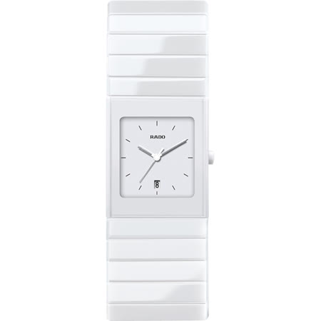 RADO 雷達Ceramica整體陶瓷系列女錶-白/27mm R21711022