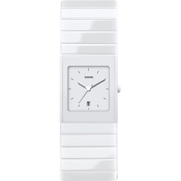 RADO 雷達Ceramica整體陶瓷系列女錶~白27mm R21711022