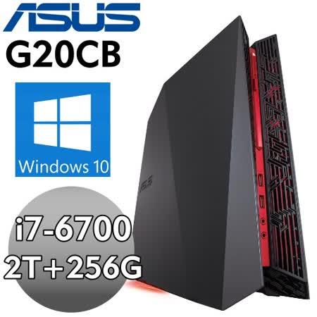 【ASUS】G20CB-0041A670GXT【暗夜子爵】(i7-6700/8G*2/2TB+256G SSD/GTX980 4G/WIN10) 獨顯電競電腦