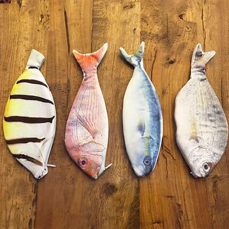 【PS Mall】創意仿真魚造型筆袋 收納袋 (J2270)