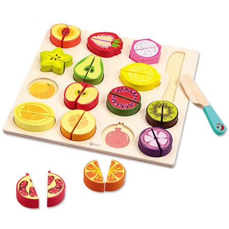 Classic world 德國經典木玩客來喜 水果切切拼圖遊戲