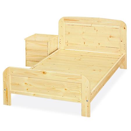 《顛覆設計》 布萊恩3.5尺松木實木單人床架(實木床板)