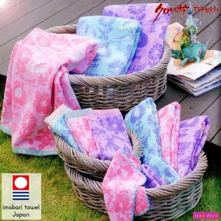 【クロワッサン科羅沙】日本ISSO ECCO今治(imabari towel)~無撚鳥語花香浴巾 70*140cm