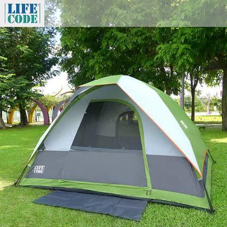 LIFECODE《立可搭》豪華5-6人雙層速搭帳篷-高183cm-萊姆綠