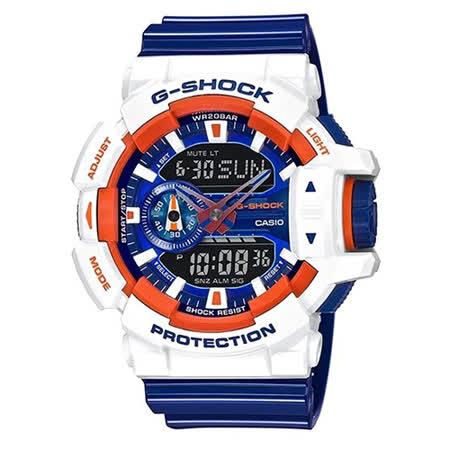CASIO G-SHOCK 無敵鋼彈 LOGE 潮流運動腕錶-51.2mm/GA-400CS-7A