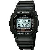 CASIO 卡西歐 G-SHOCK 頭文字D 黑色耐用軍人計時腕錶/黑/DW-5600E-1