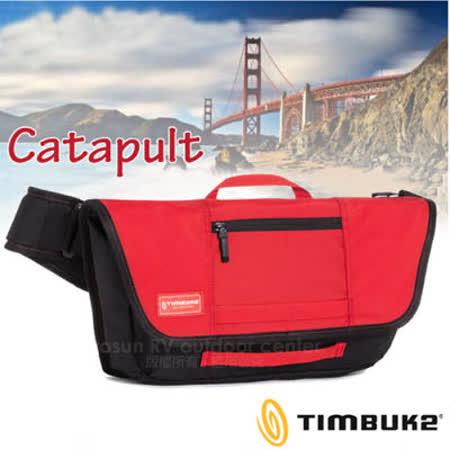 【美國 TIMBUK2】新款 Catapult Sling 輕巧郵差包(M,5L).筆電背包.多功能手提袋.信使包.書包.側背包.機車包 /744-4-6053 紅/黑