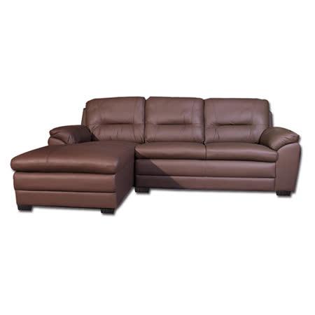 AS-黛博拉真牛皮面左L型沙發