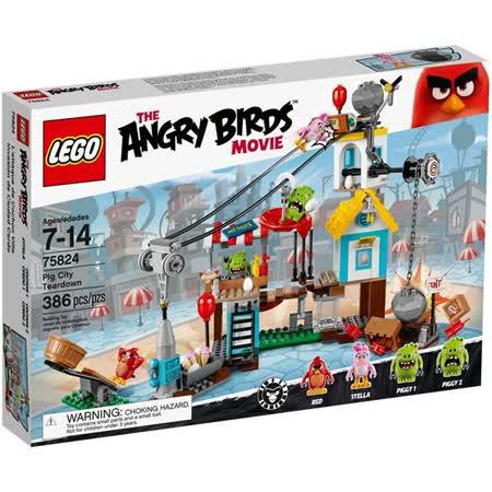 LEGO《 LT75824》Angry Birds 憤怒鳥系列 - Pig City Teardown