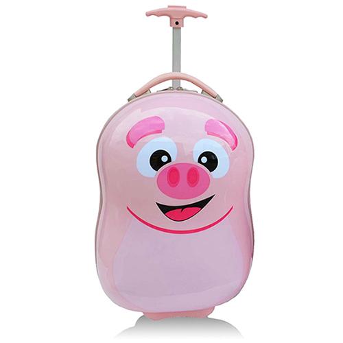 【B新竹 巨 城aboobag】PC兒童造型16吋超值拉桿箱行李箱-小豬