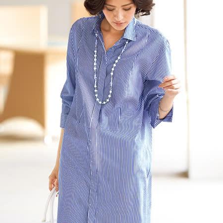 日本Portcros 預購-簡約帥氣長版長袖襯衫(共六色)