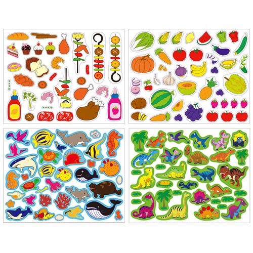 動物美食重覆貼貼紙書