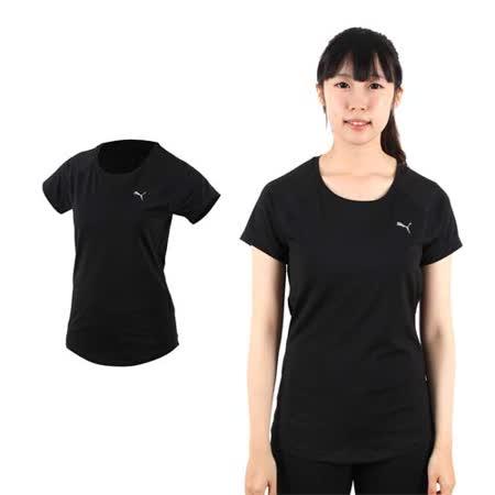 (女) PUMA 訓練系列短袖T恤-短袖上衣 短T 路跑 慢跑 健身 黑銀
