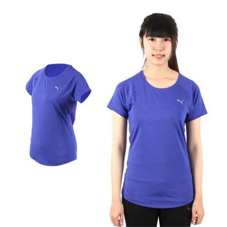 (女) PUMA 訓練系列短袖T恤-短袖上衣 短T 路跑 慢跑 健身 紫銀