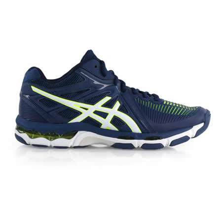 (男) ASICS GEL-NETBURNER 排羽球鞋-排球 羽毛球 深藍螢光綠