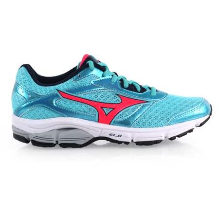 (女) MIZUNO WAVE IMPETUS 4慢跑鞋-路跑 訓練 美津濃 湖水藍橘