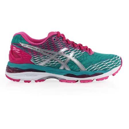 (女) ASICS GEL-NIMBUS 18慢跑鞋 - 路跑 亞瑟士 湖水綠桃紅
