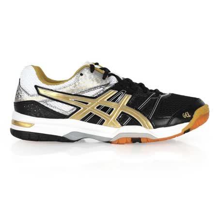 (男) ASICS GEL-ROCKET 7 排球鞋 - 羽球鞋 亞瑟士 黑金白