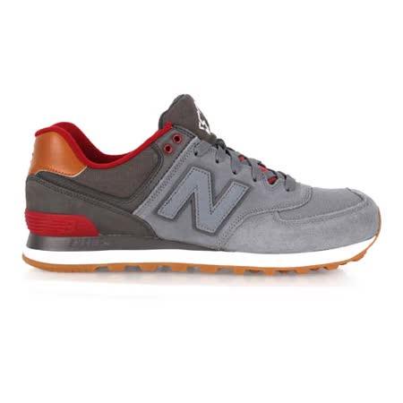 (男) NEWBALANCE 574系列 復古休閒鞋 - NB N字鞋 灰酒紅
