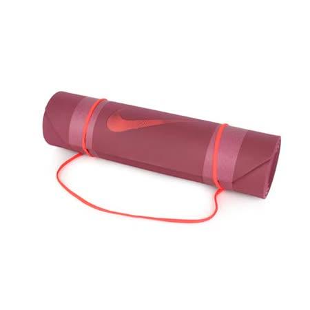 NIKE 2.0訓練墊 - 瑜珈墊 有氧 塑身 地墊 止滑墊 暗紅 F