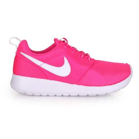 (童) NIKE ROSHE ONE 女大運動鞋 - 路跑 慢跑 粉紅白