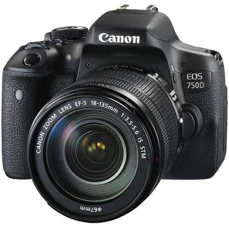 Canon EOS 750D 18-135mm IS STM變焦鏡組*(中文平輸)-加送桌上型小腳架+讀卡機+相機清潔組+高透光保護貼