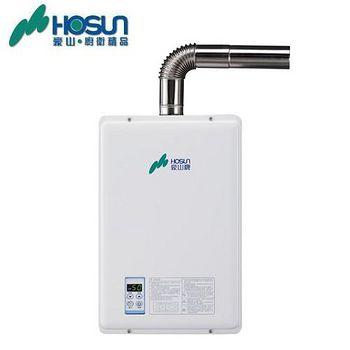 豪山 H-1690屋內強制排氣大廈型熱水器 16L