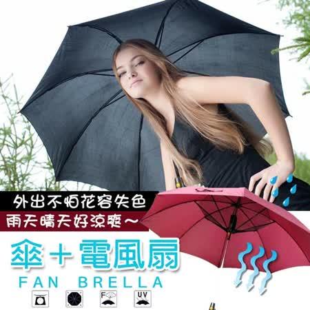 2016年最新款 加大防曬抗UV強力風扇傘
