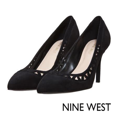 NINE WEST--初秋性感切割鏤空高跟鞋--完美黑