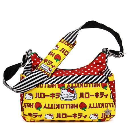 【美國Ju-Ju-Be媽咪包】HoboBe側/肩背包-HelloKitty聯名款-Strawberry Stripes草莓條紋
