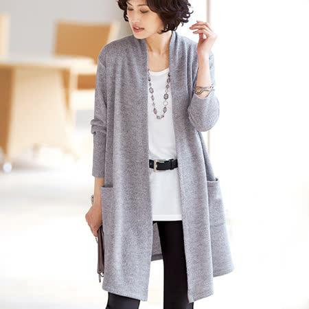 日本Portcros 預購-雙口袋長版針織外套(M-3L共五色)