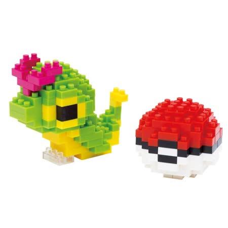 (購物車)《Nano Block迷你積木》【神奇寶貝系列】 NBPM -010 綠毛蟲 & 寶貝球