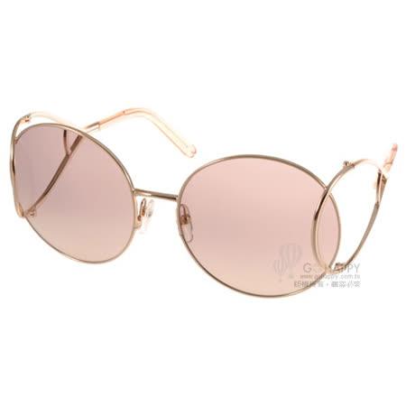 【開箱心得分享】gohappy 線上快樂購Chloe太陽眼鏡  別緻金屬框廣告款 (金-粉) #CL124S 724去哪買板橋 遠 百 餐廳
