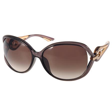 DIOR 太陽眼鏡  高雅大框典雅女款(透黑棕) #VOLUTE2F 40IJS