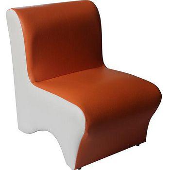 DOLEE 彩色小沙發椅 橘